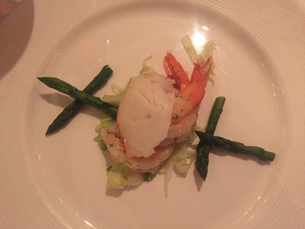 appetizer from the Royal Dinner menu on Disney Cruise Line