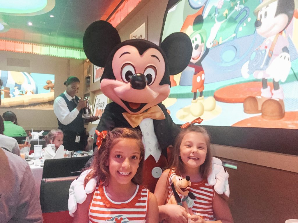 Mickey Character Dining on Disney Cruise Line