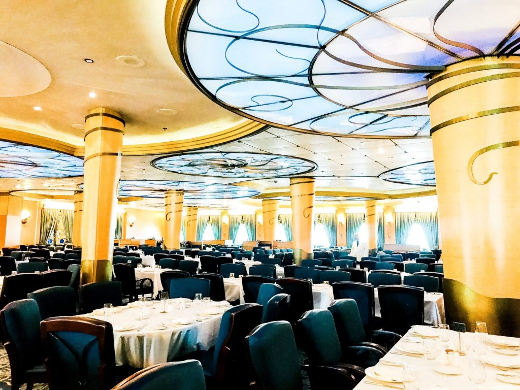 dining area at Lumiere's on Disney Cruise Line