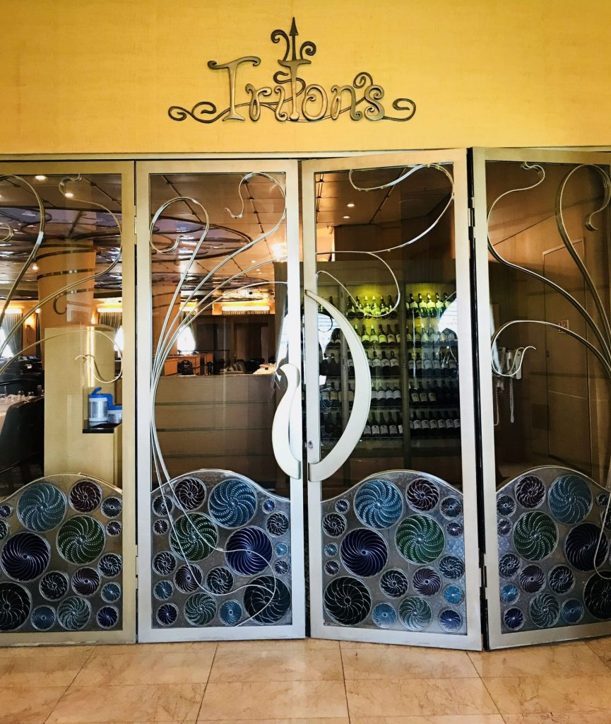 Tritons doors on Disney Cruise Line