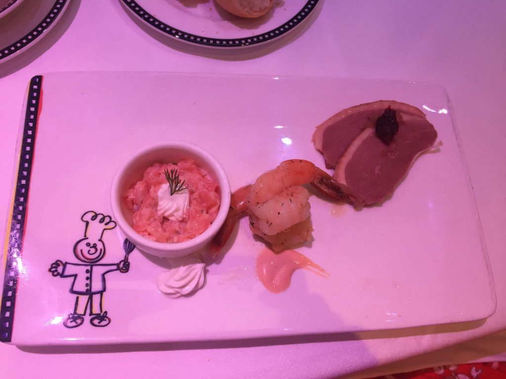 appetizer from Animators Palatte on Disney Cruise Line
