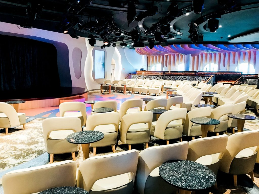 seating area at Azure on Disney Cruise Line