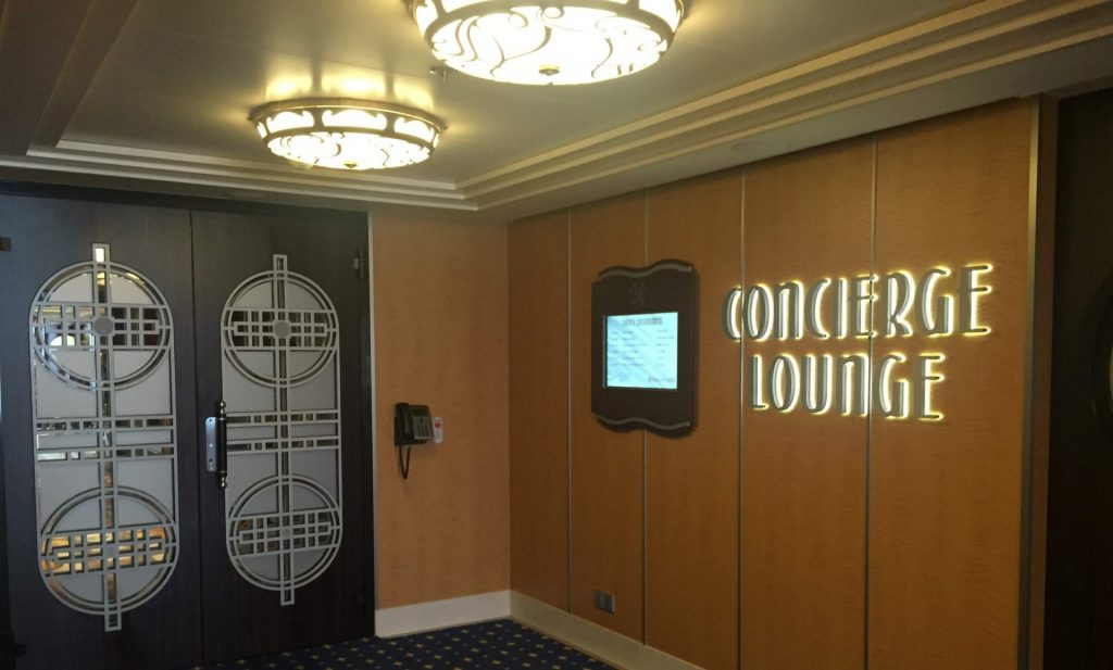 Concierge Lounge on Disney Cruise Line