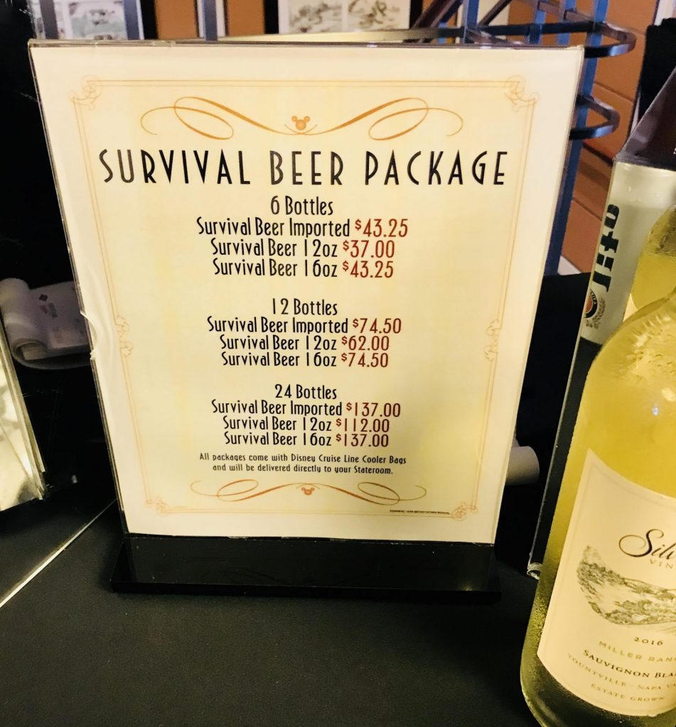 Disney Cruise Line Survival Beer Package