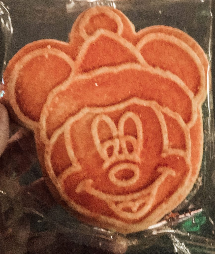 Mickey Santa Sugar Cookie at Mickeys Very Merry Christmas Party