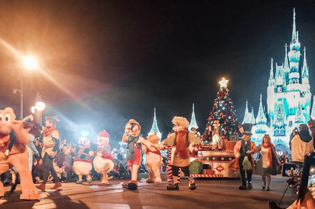 Mickey's Once Upon a Time Christmas Parade at Magic Kingdom