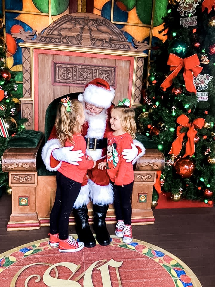 Santa at Christmas Tree Trail at Disney Springs