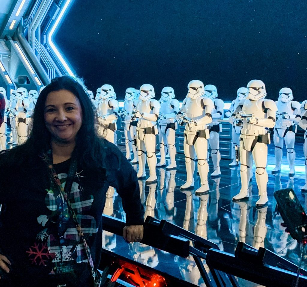 Photo opp with the Storm Troopers