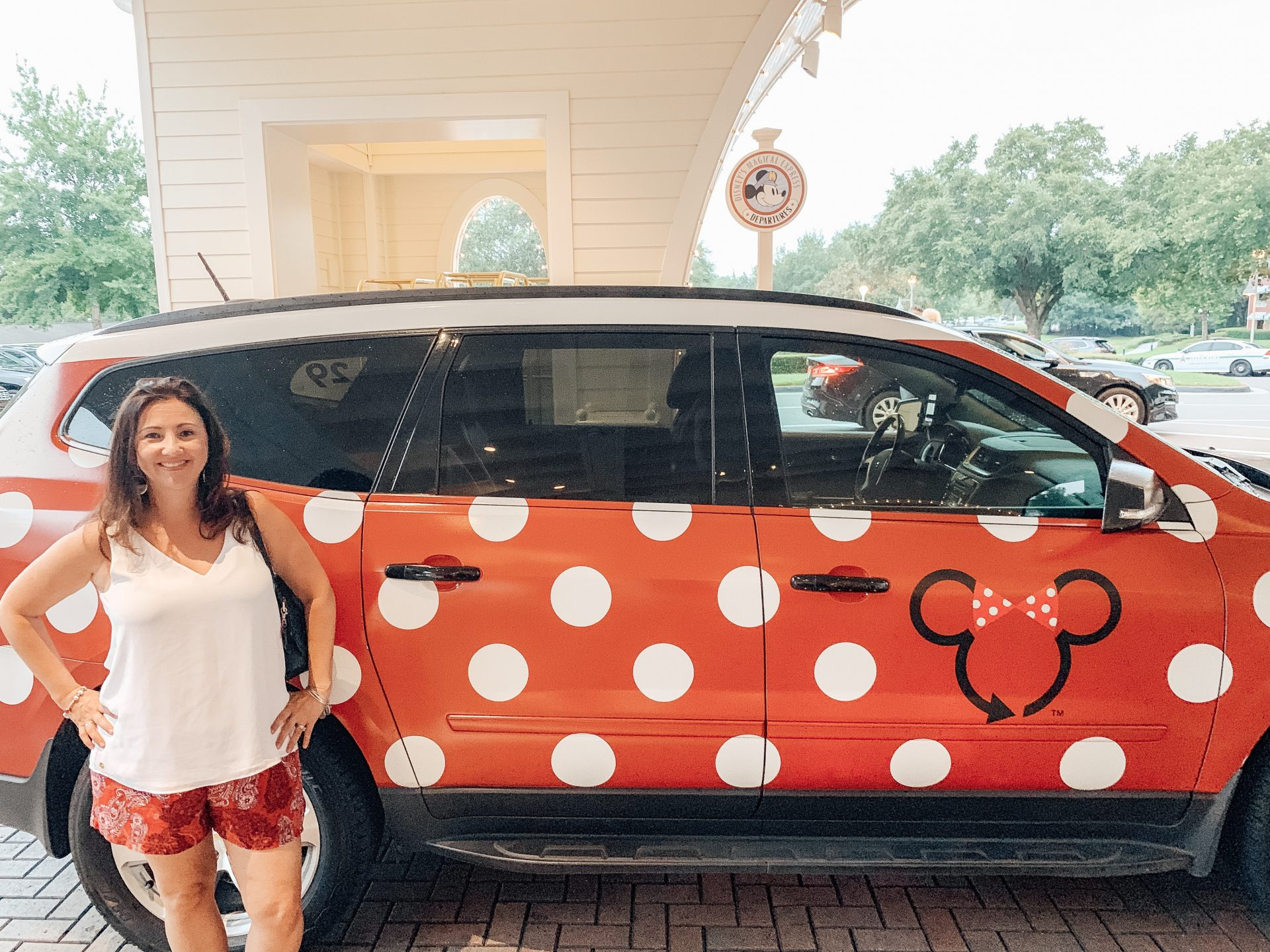 Disney's Minnie Van transportation Lyft at Disney World