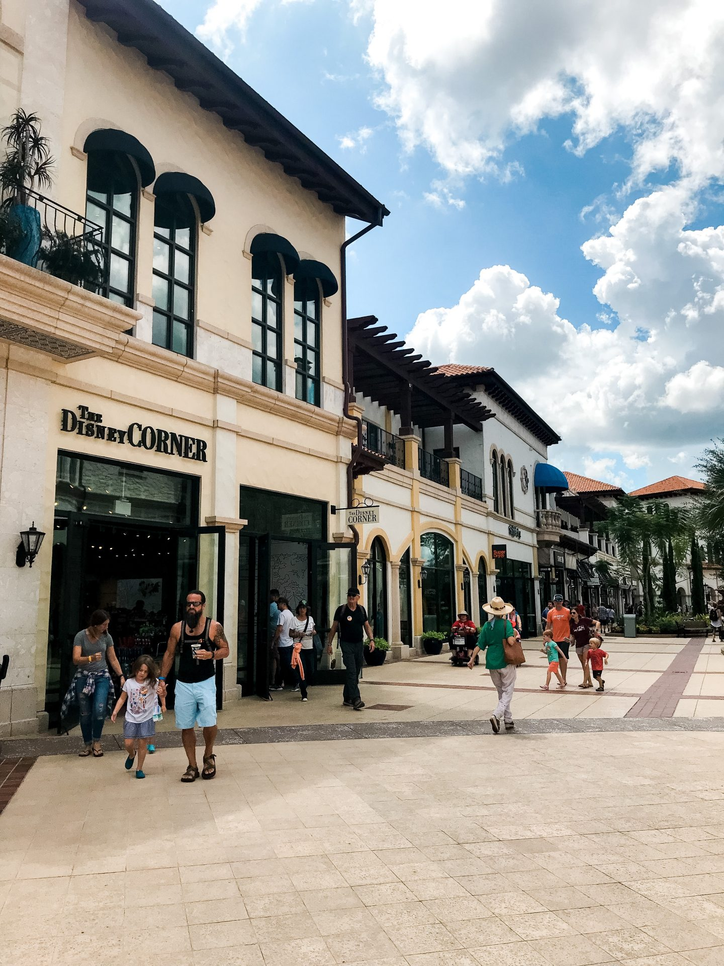 DIsney Springs shopping area