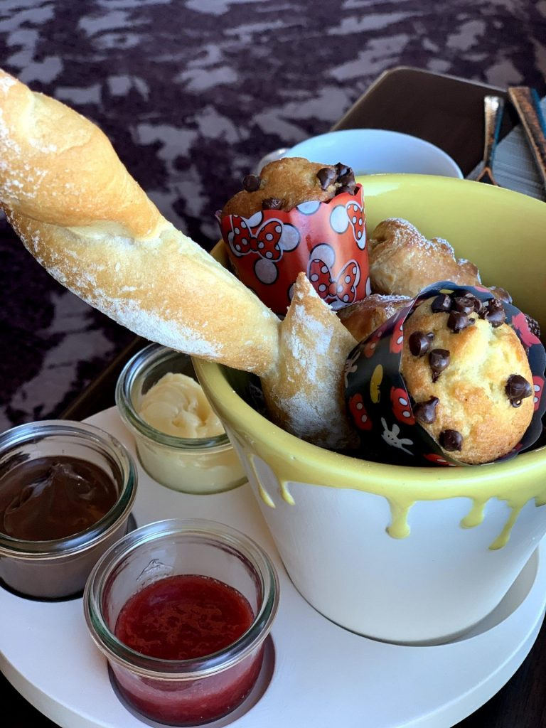 Breakfast muffin spread at Disney's Rivera Resort Topolinos Character Breakfast