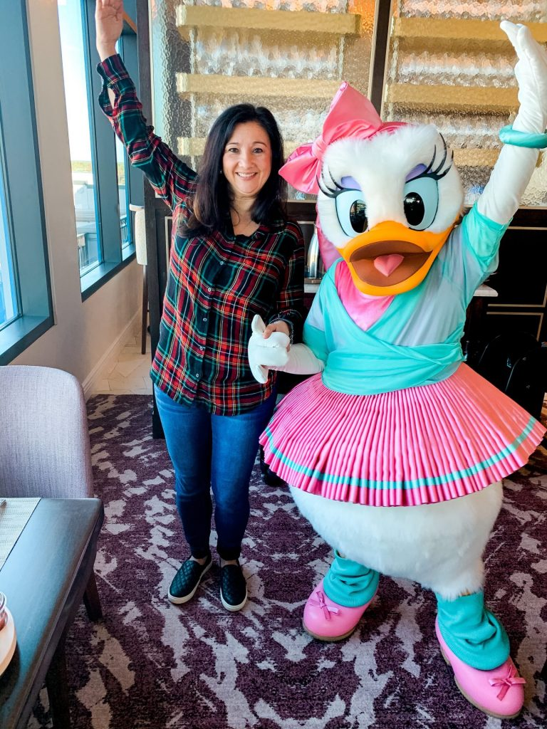 Daisy Duck at Topolino's Character Breakfast Disney's Rivera Resort