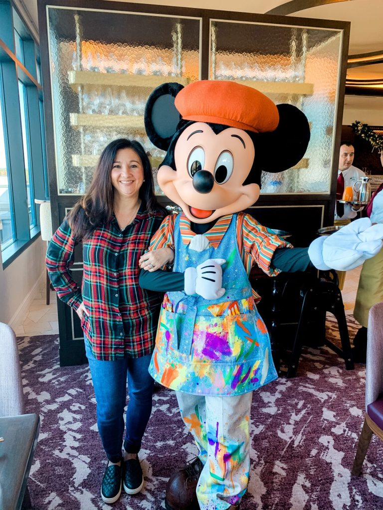 Mickey Mouse at Topolino's Chracter breakfast Disney's Rivera Resort