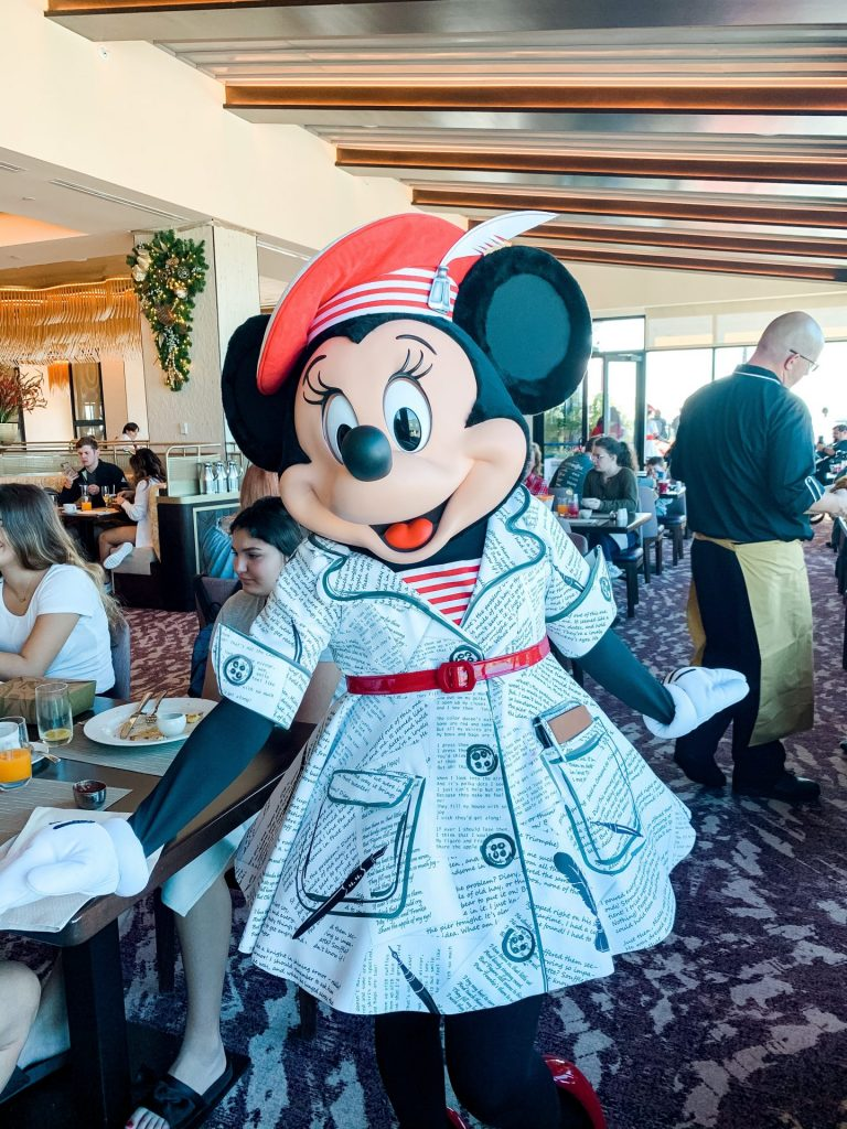 Minnie Mouse at Topolinos Character Breakfast Disney's Rivera Resort
