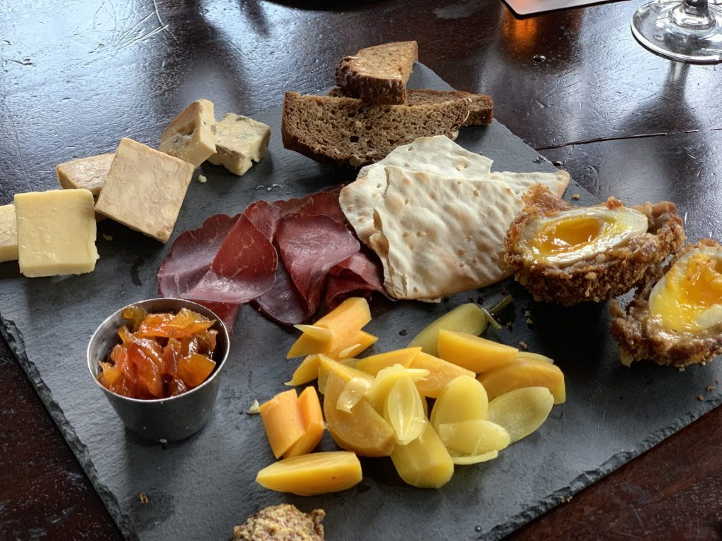 Cheese board at Raglan Road Irish Pub Disney Springs