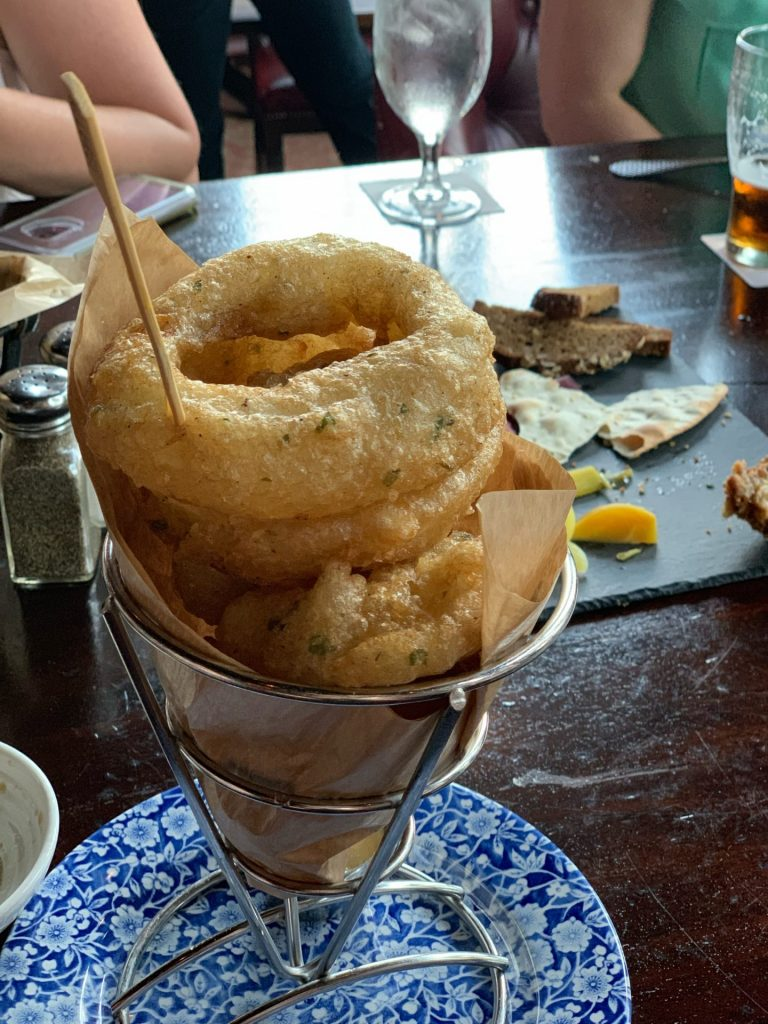 Gluten Free onion rings at Raglan Road Disney Springs