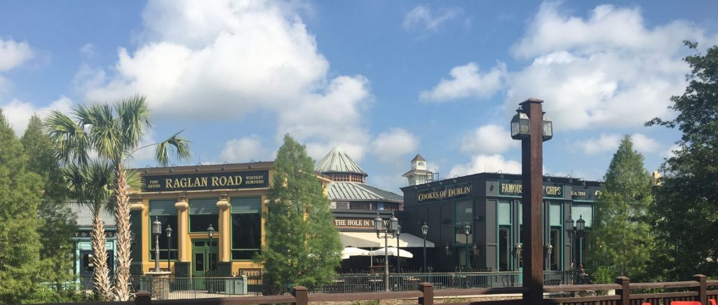 Raglan Road Irish Pub, Hole in the Wall, Cookes of Dublin at Disney Springs