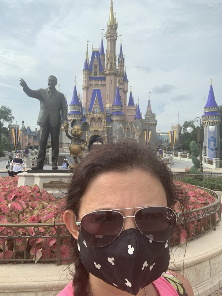 Disney face mask at Magic Kingdom on reopening day