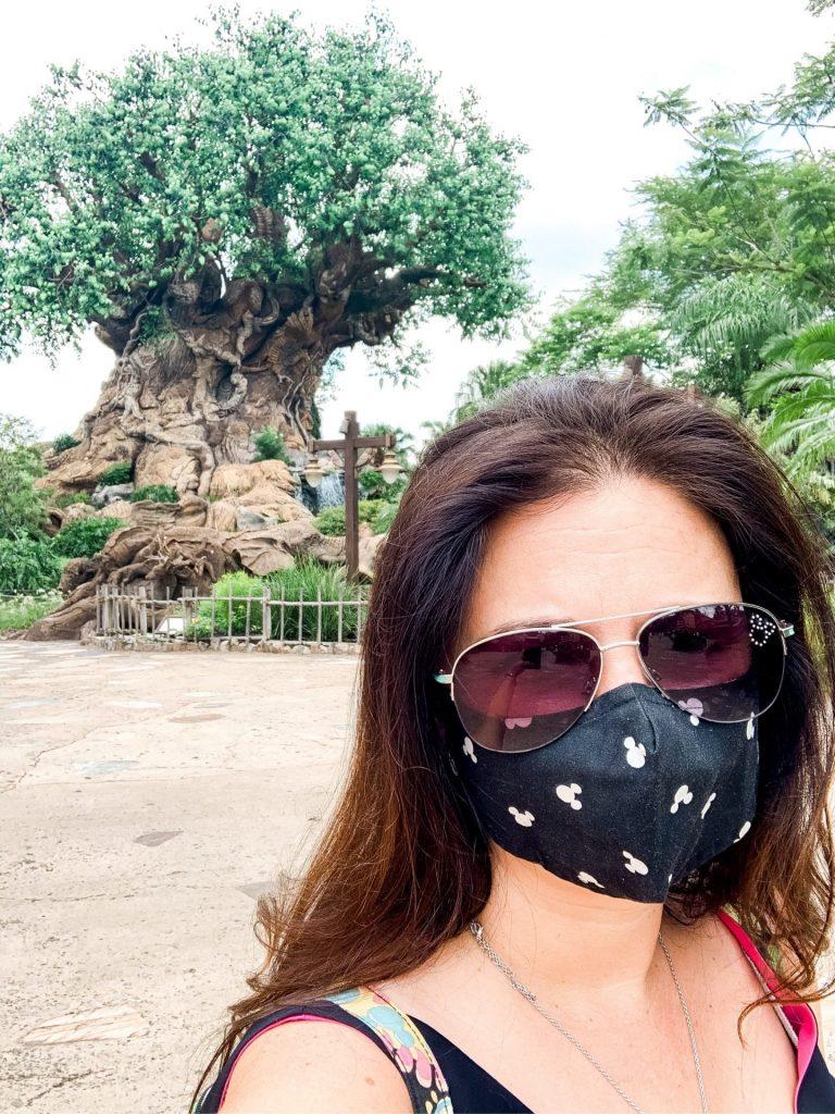 Disney face mask wearing at Animal Kingdom