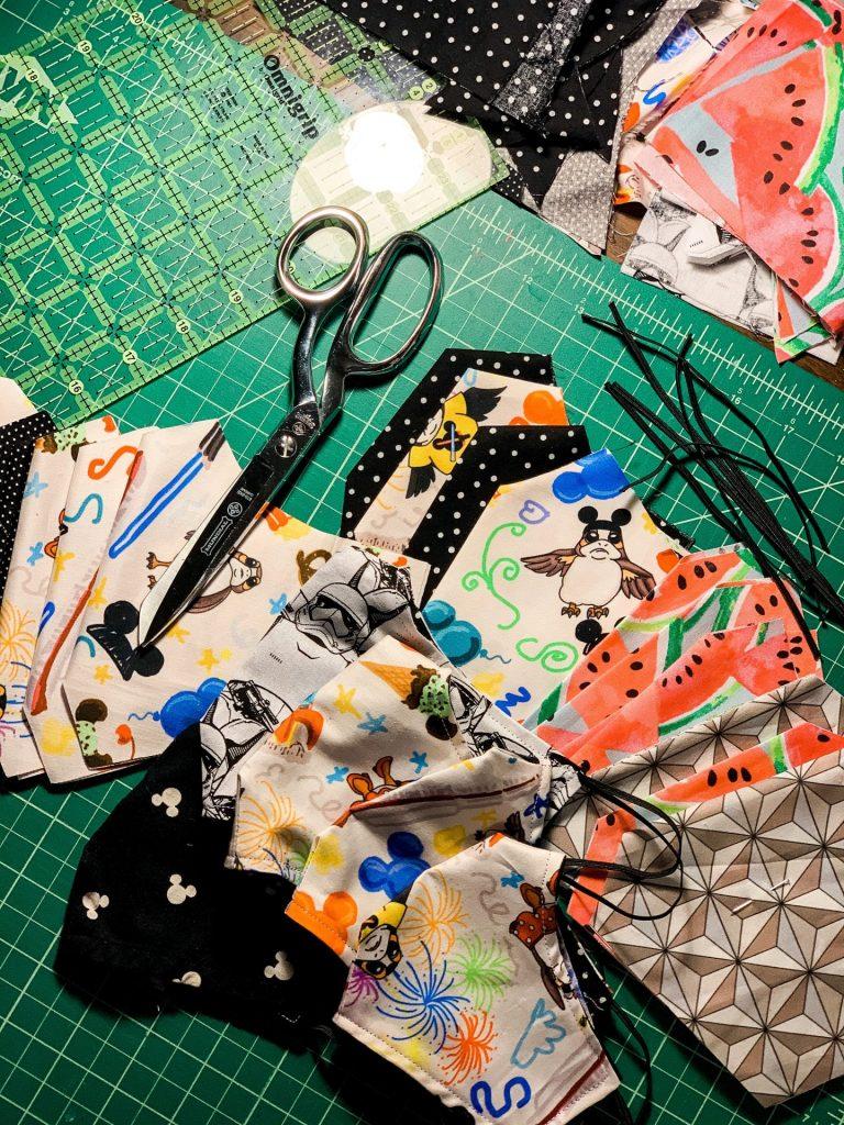 Cut mask fabric