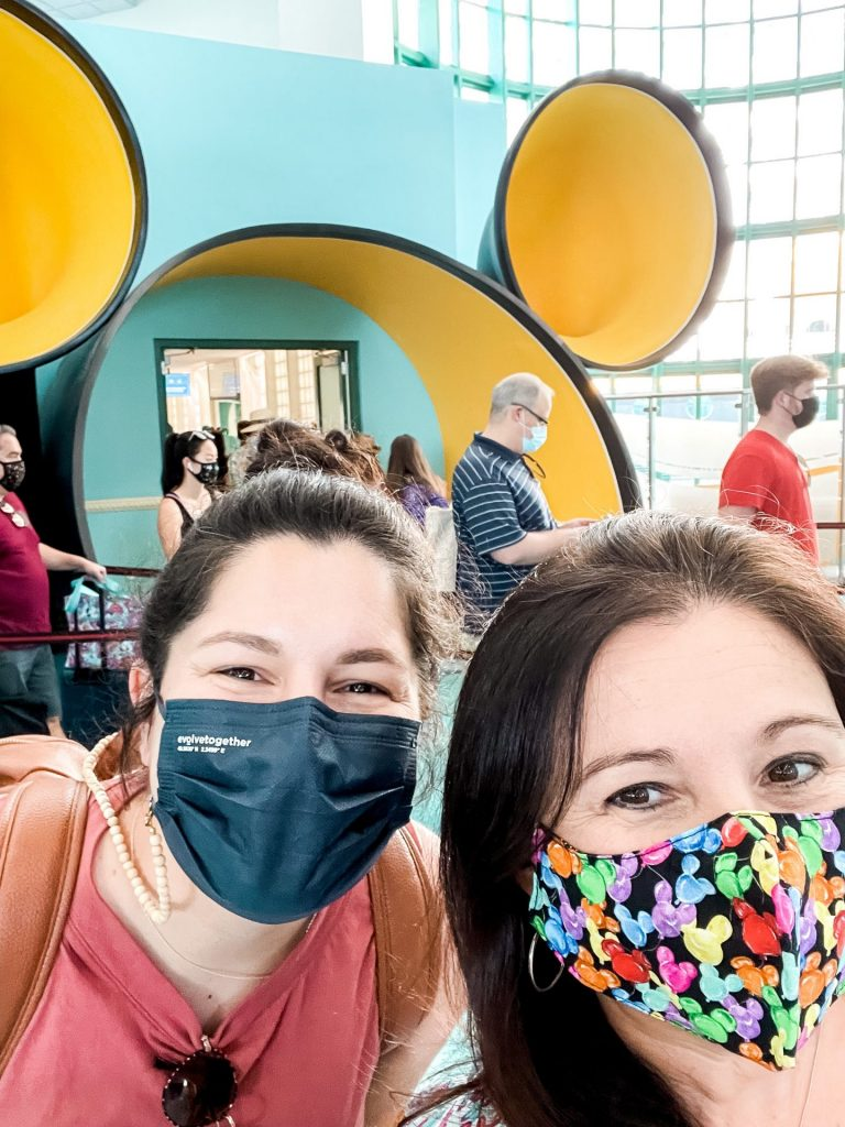 Golden Mickey Ears entrance at Port Canaveral Disney Cruise LIne