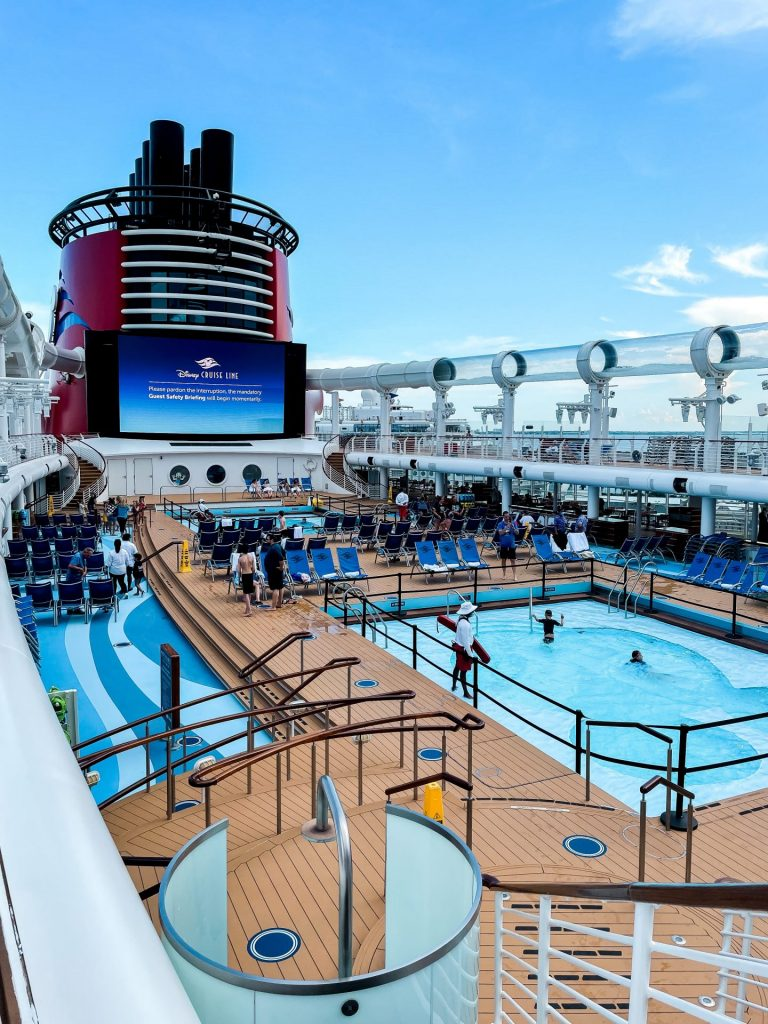 Disney Cruise Line Dream deck pool and aqua duck
