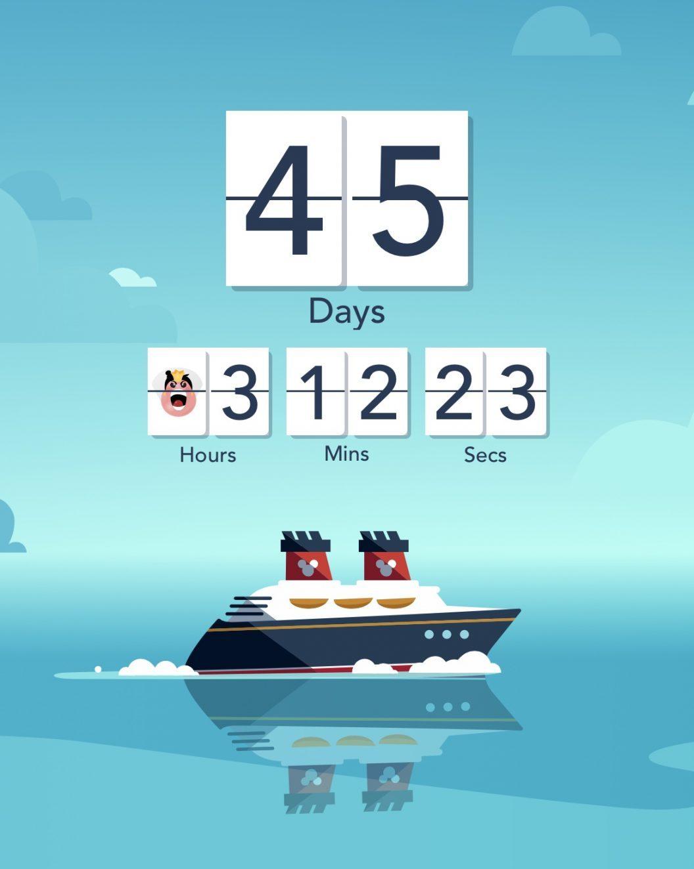 Disney Vacation Countdown on the Navigator App