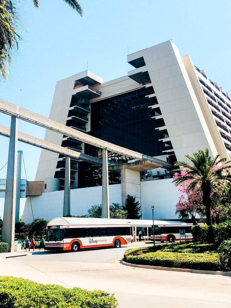 Bus transportation at Disneys Contemporary Resort